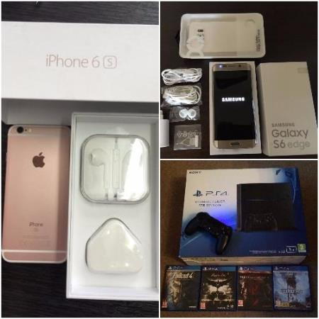 Apple iPhone 6s+, Samsung S6 Edge+, PS4, Sony Xperia z